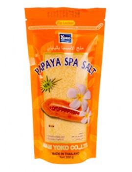 YOKO-418 Papaya SPA Salt (Zipper bag) 10 oz / 300gr
