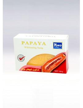 YOKO-058 PAPAYA bar soap(White box + Papaya picture) 3.67 oz / 11gr